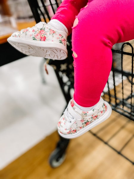 *DAILY DEAL ** Kennedi   Floral Sneakers