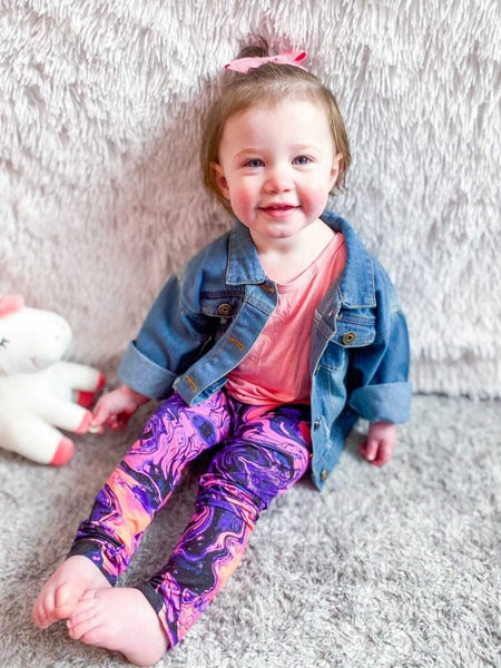 Girl's | Neon Marble Swirl Butter Leggings