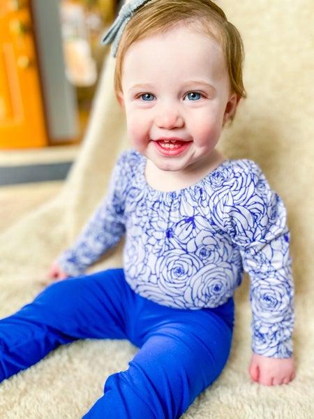 Izzy Blooms   Sapphire Blue Leotard