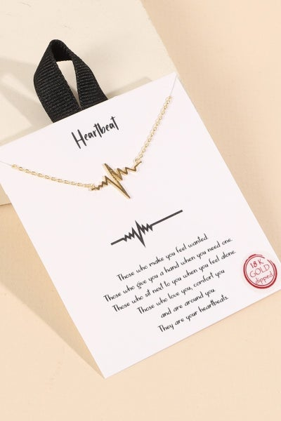 Heartbeat Necklace | Gold + Silver