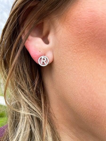 Initial Pendant Earrings