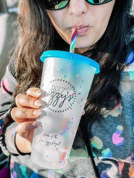 Bizzy Izzy's Confetti Tumbler Cups