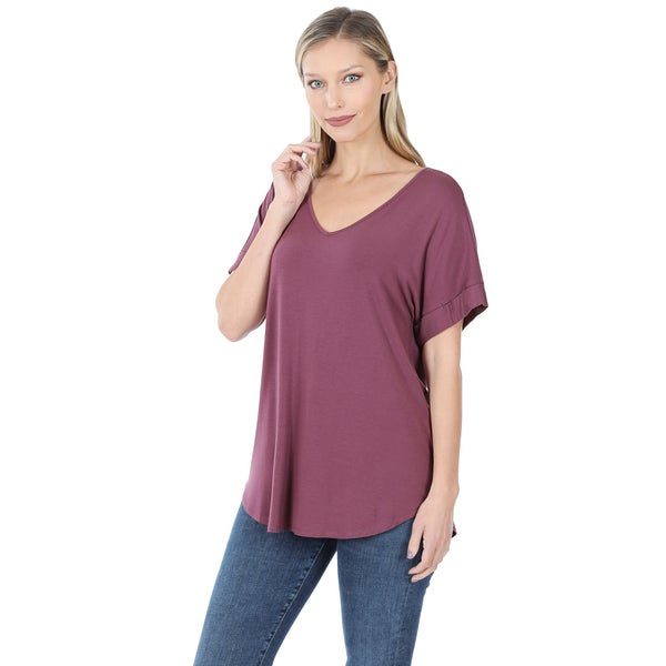 Marie | V Neck Relaxed Fit Every Day Tee