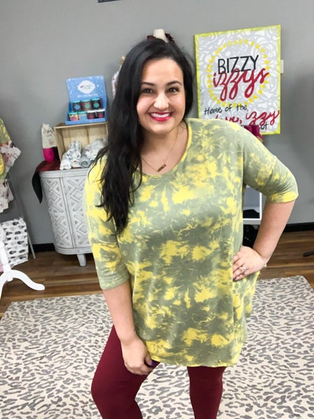 Ashley | Loose Fit Yellow Tie Dye Tunic