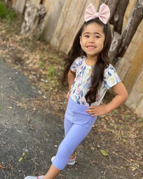 Girl's | Bizzy Butter Capris | Perrywinkle