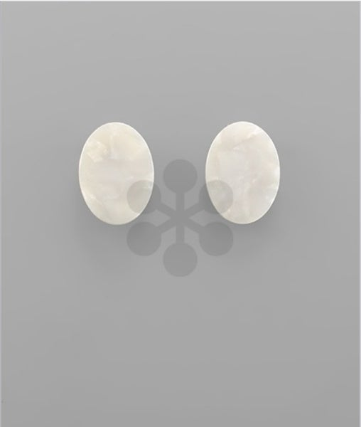 Felicia | Resin Oval Marble Design Studs