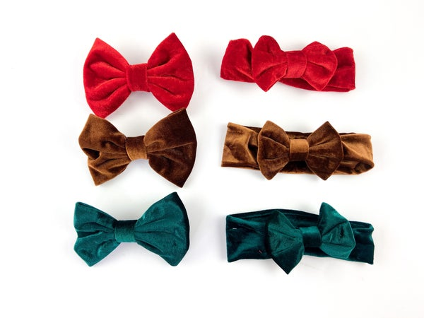 Holiday Favorites Bow Collection: Headwrap or Clips { Set of 3}