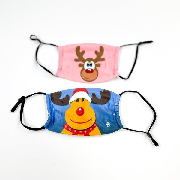 Reindeer Kids Face Mask Adjustable