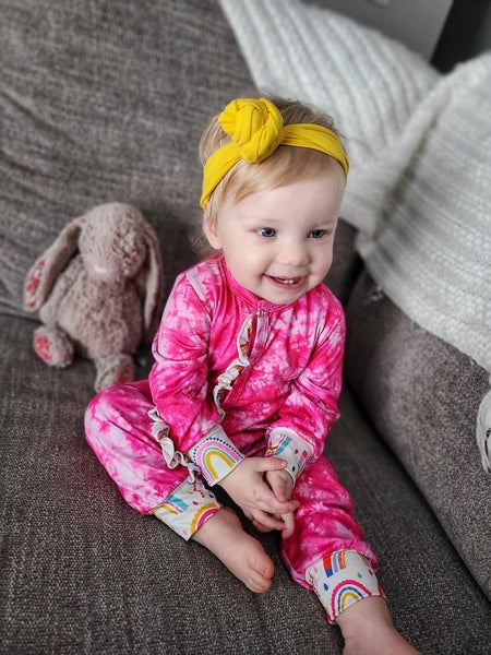TayLaighia | Tie Dye One Ruffle Piece Pajamas