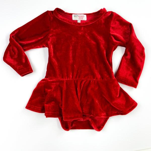 Crimson Velvet Red Peplum