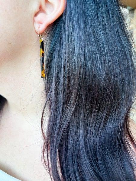 Envy   Resin Bar Earrings