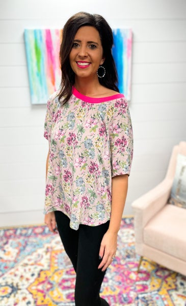 Atlanta: Floral Relaxed Fit Top