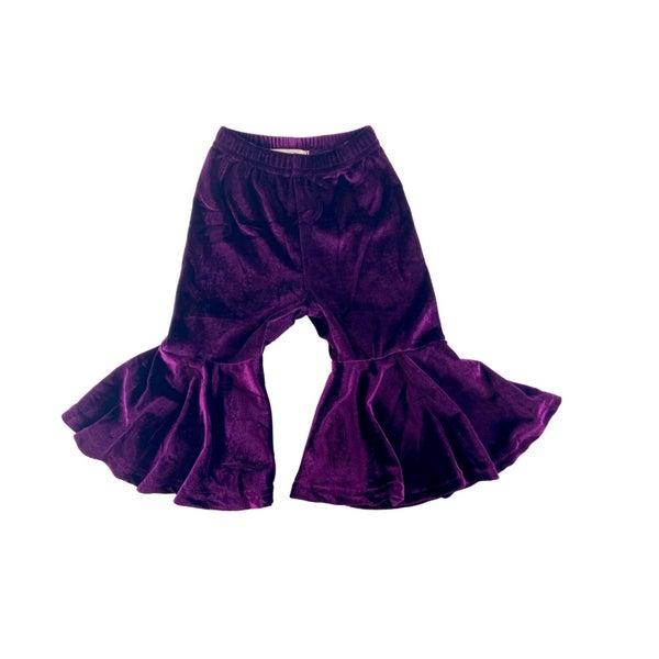 Grape Jelly Purple Velvet Bell Bottoms