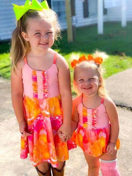 Woodstock Tie Dye Dress  or Bubble Romper