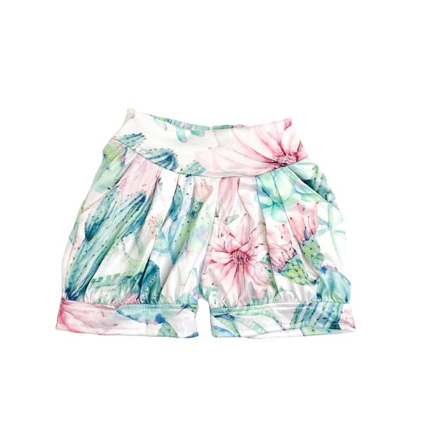 Cactus Blossom Bubble Shorts