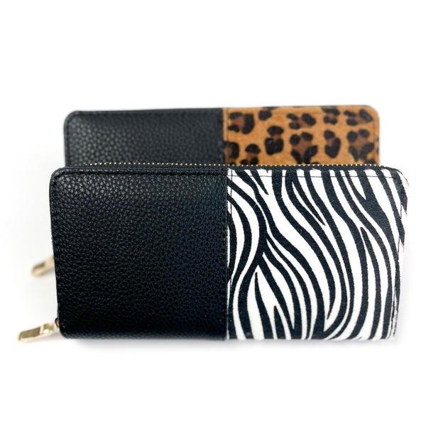 Animal Print  |Trifold  Zipper Wallet