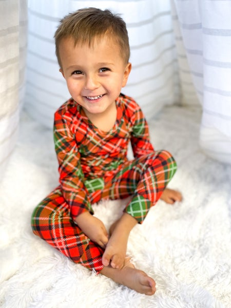 Retro Christmas Pajamas | Two Pieces