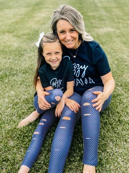 Mama + Me: Jasmine and Sutton: Mini Dot Leggings