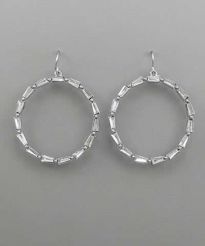 Emily   Bead Circle Earrings