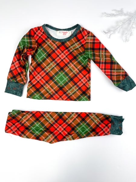 Girls Retro Christmas | Two Piece Set