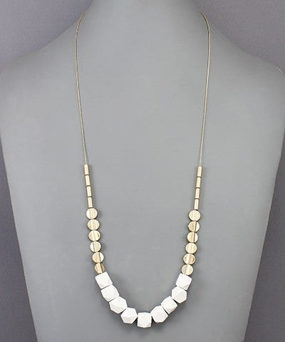 Brianna   Wood Ball Necklace
