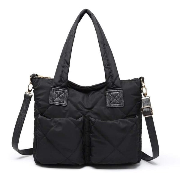Alex Everything  TOTE  { Camo + Black} with Leather Accents