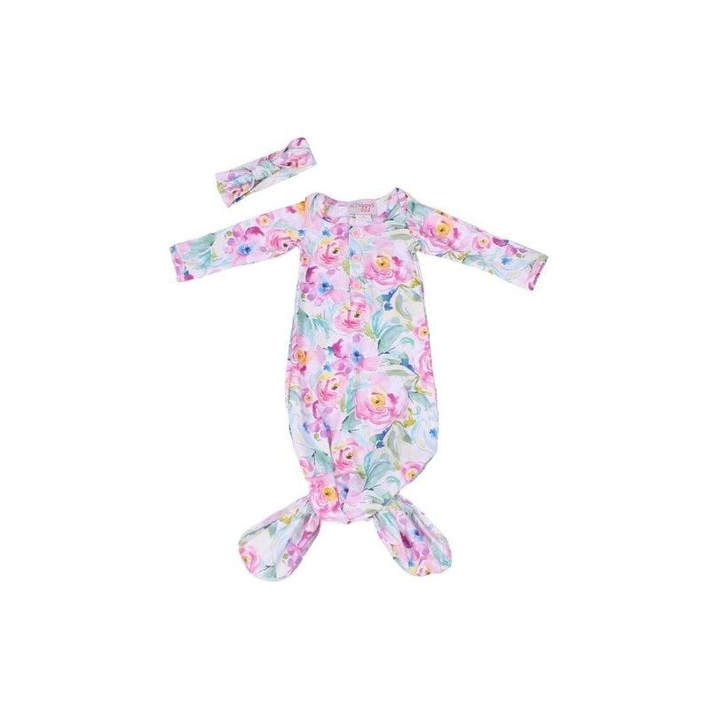 Brielle Floral Newborn Gown Set