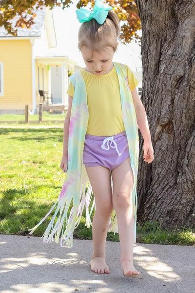 Groovy Girl | Tie-Dye Fringe Vest