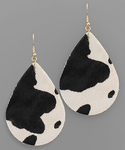 Stephanie | Genuine Leather Teardrop Earrings