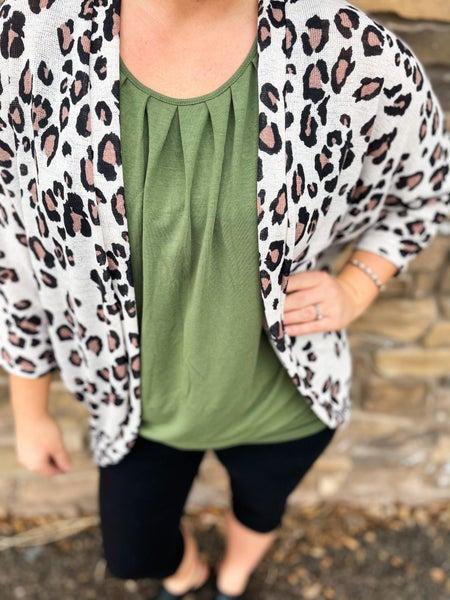 Sassy Yet Classy | Cheetah Dolman Sleeve Open Cardigan