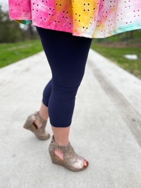 Women's | Bizzy Butter Leggings | Navy & Gray