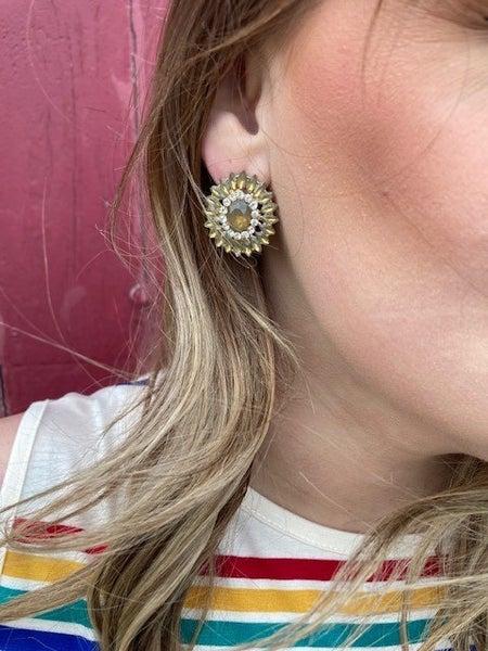 Sunburst   Jewel Earrings