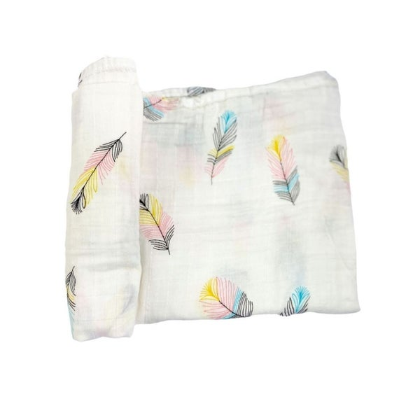 Love, Izzy Swaddle - Whimsical Feather  -  Buy one,  We donate to the NICU!