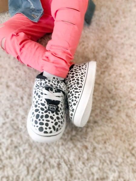 Olivia + Jack | Cheetah Suede Sneakers