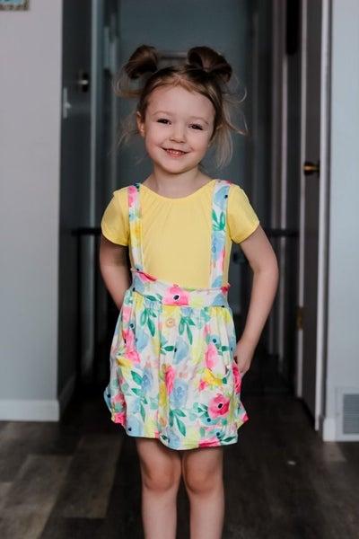 Maggie | Spring time Floral Suspender Skirt
