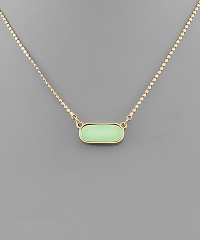 Alexandria | Oval Shell Necklace