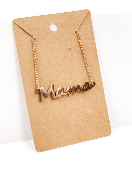 Mama Necklace Rose Gold