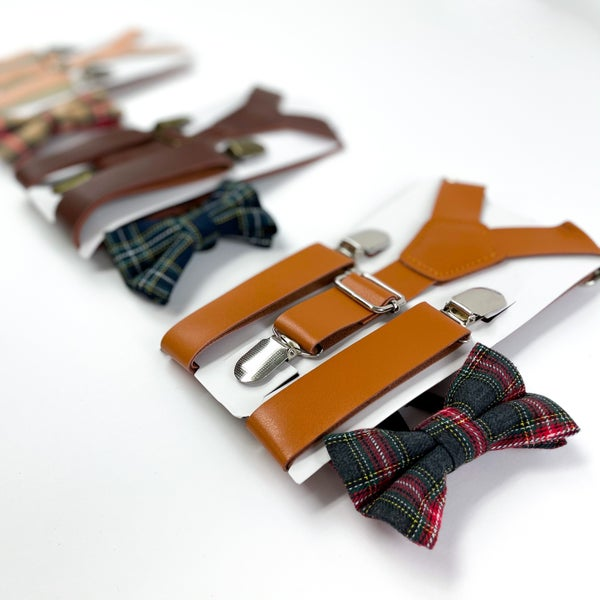 Suspender and Adjustable Bow Tie Sets