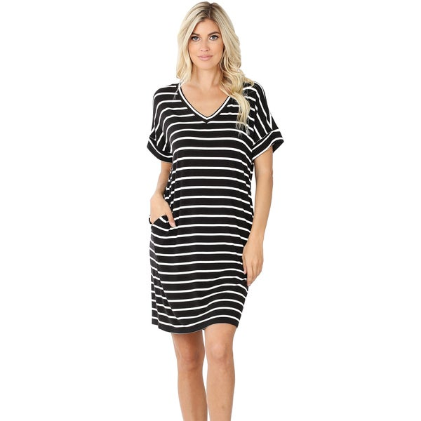 The Classic Everyday Dress | Striped T-Shirt Dress
