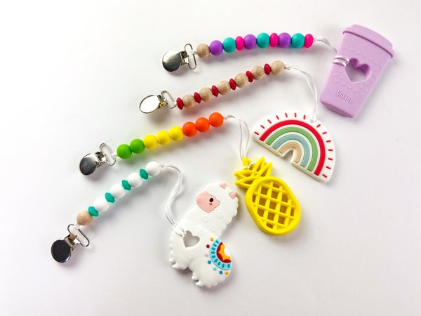 Teether + Pacifier Clips