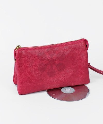 Samantha   Ultra Soft Faux Leather Cross Body   Wristlet Variety of colors