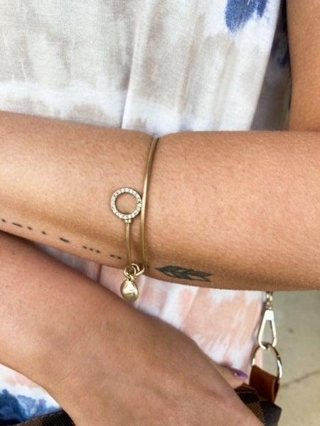 Dazzle Me   Brushed Gold Bracelet