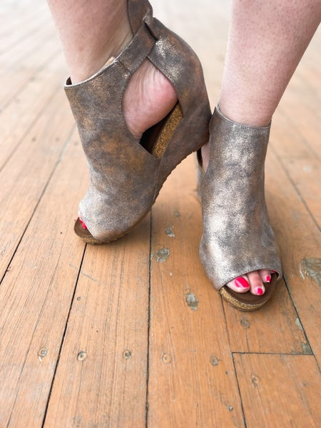 Sunburst | Metallic Bronze Wedges By Corky's