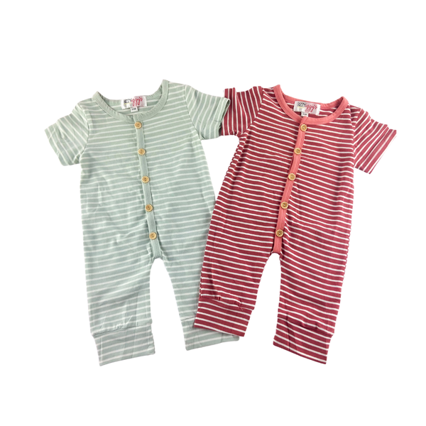 Channing Striped Rompers
