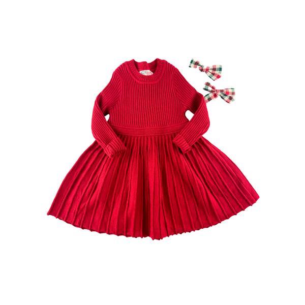 The Chloe Cherry Red Sweater Dress