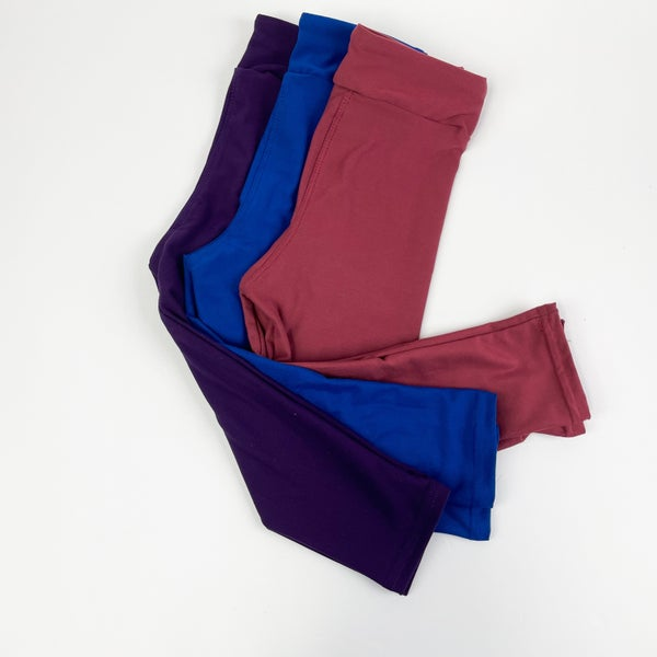 Girls | Bizzy Butter Leggings : Jewel Tone Solids