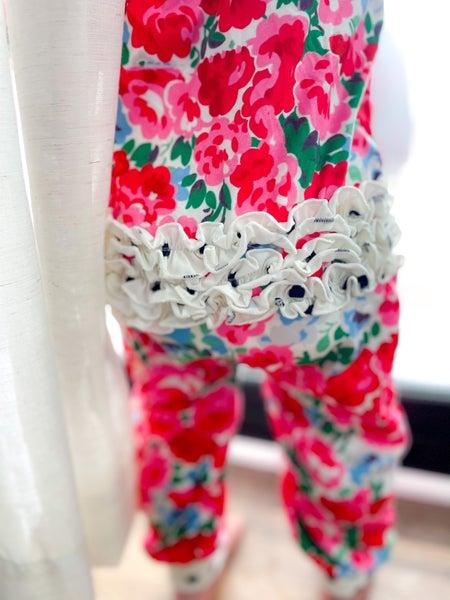 EDEN  Floral | One Piece Ruffle Pajamas