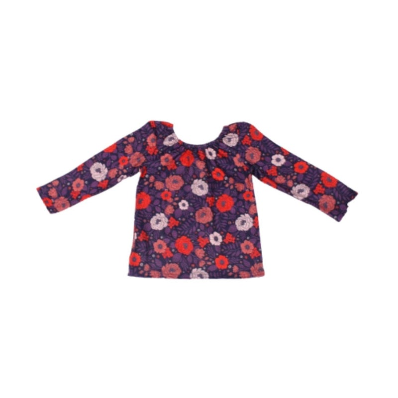 Berry Floral Leotard/Top