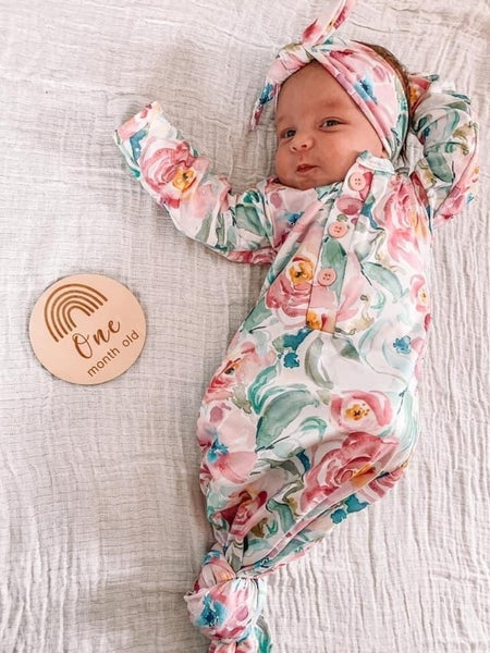 Brielle Floral Newborn Gown Set