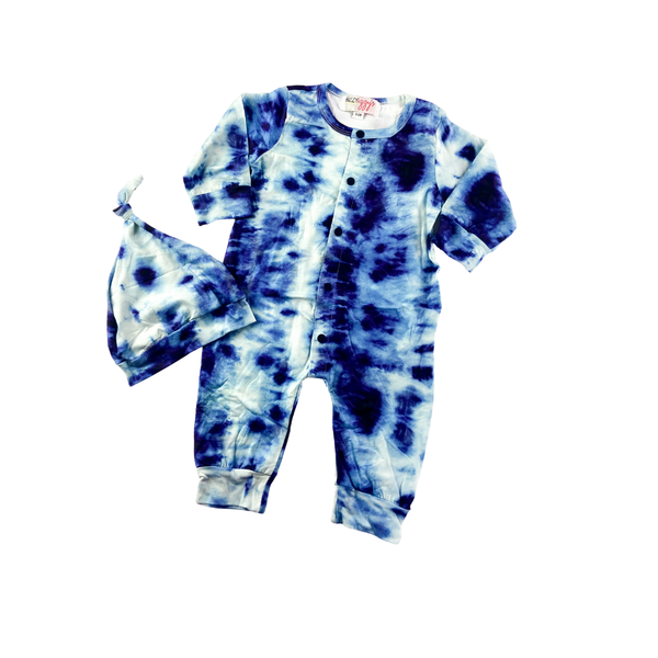 Oakley Tie Dye Romper and Hat Set